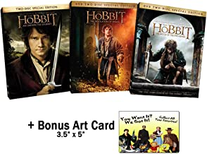 The J. R. R. Tolkien Famous Works Collection: The Hobbit - Complete Special Edition Movie Series 1-3 (An Unexpected Journey / Desolation of Smaug / Battle of the Five Armies) + Bonus Art Card