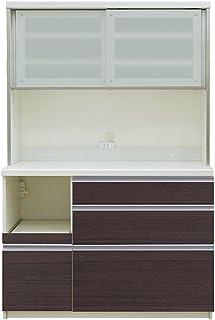 パモウナ 食器棚QF カカオチェリー 幅120×高さ178×奥行50 日本製 QF-1200R