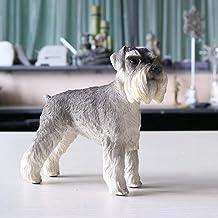 YAOHEHUA Beelden voor Woonkamer Schnauzer Simulatie Dierlijke Hond Model Auto Decoratie Crafts-C-16Cm* 5.5Cm* 13.5Cm