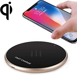 LZSUS for G19 10W QI Universal Round Wireless Charger(Black) (Color : Gold)