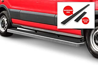 APS iBoard Running Boards (Nerf Bars Side Steps Step Bars) Compatible with 2015-2020 Ford Transit Full Size Van 3-Door (Silver Powder Coated 5 inches)