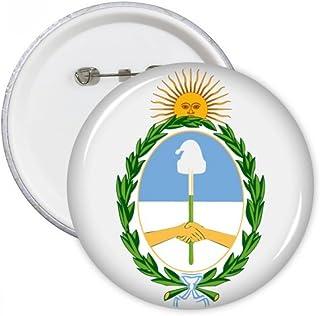 DIYthinker Buenos Aires Argentine Badge nationale Pins ronde emblème Bouton Vêtements Décoration 5pcs cadeau Multicolore S