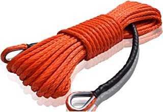 Winch Rope Extention,Synthetic Rope,Rope Extention for Off-road ATV UTV,Winch Cable (3/8'×84ft, Orange)
