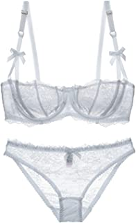 a07201fe47 Aivtalk Women Sexy Lace Bra and Panty Set Underwire Push Up Soft Lingerie  Set