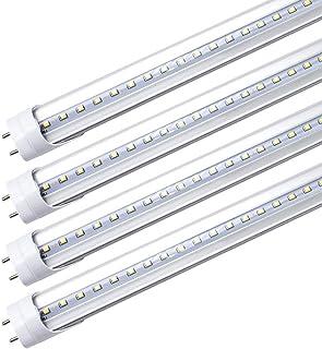 LightingWill LED T8 Light Tube 2FT, Daylight White 5000K, Dual-End Powered Ballast Bypass, 1000Lumens 10W (24W Equivalent ...