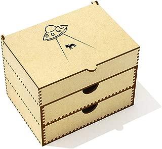 Azeeda  UFO Abducting Cow  Vanity Case Makeup Box  VC00020707