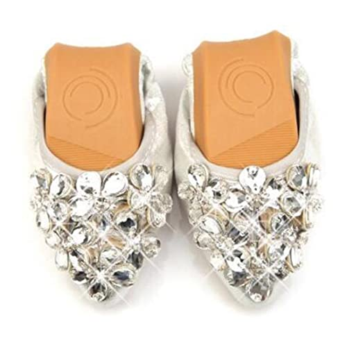 32f5537f90ca2 COVOYYAR Women s Pointed Toe Rhinestone Flower Bling Ballet Flats Casual  Slip On Shoes