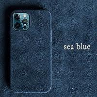 iPhone12promax、輸入毛皮電話ケース、快適な感触、6.1インチ、耐衝撃性と落ち着き防止、3色(青、黒、緑)-海のブルー_iPhoneXS MAX