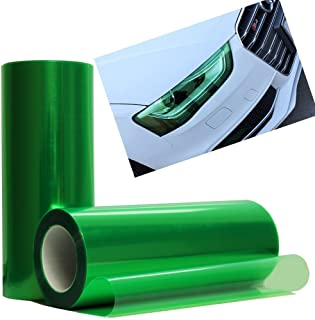 12 by 48 Inches Self Adhesive Headlight, Tail Lights, Fog Lights Tint Vinyl Film (12 X 48, Green)