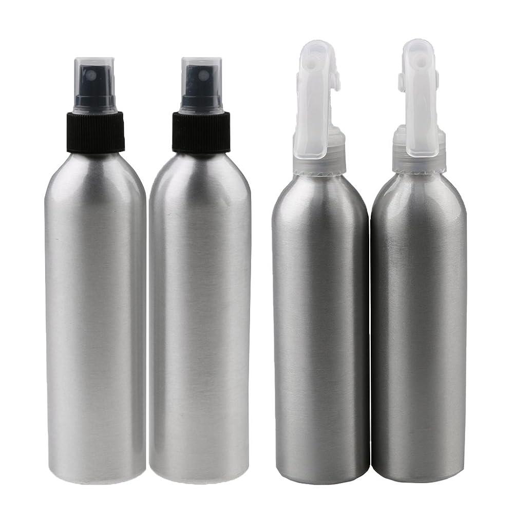 署名早熟メンダシティ4本 スプレーボトル アルミ ウォーターミスト スプレー ボトル メイクアップ 香水 スプレーアトマイザー 50ml/150ml 2サイズ選べ - 50ml