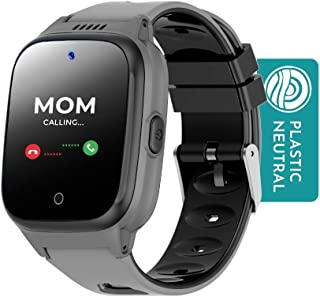 Sponsored Ad - Cosmo JrTrack Kids Smartwatch | Black | Voice & Video Call | GPS Tracker | SOS Alerts | Water Resistant | B...
