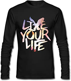 American Eagle Outfitters Live Your Life Tee Black For Men Cotton
