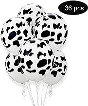 RUYE 36pcs Cow Print Balloons 12