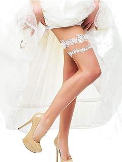 d0d6092857d shinyis Strecth Lace Bridal Wedding Garter Set with Toss Garter and  Keepsake Garter for Bride Dress