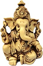 """3.5"""" Lord Ganesh / Ganesha Statue Sculpted in Great Detail with Antique Finish ? Ganesh Idol for Car / Home Decor / Mandir..."""