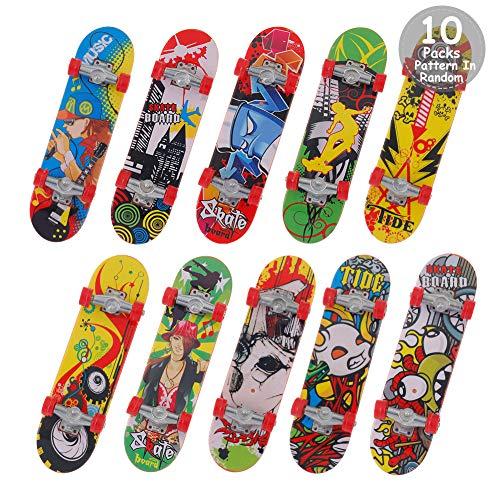 Auidy_6TXD 10 Stücke Finger Skateboard Mit Professional Bearing Wheels, Mini Fingerboards Skatepark Spielzeug für Kinder Geschenke