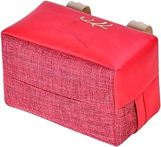 Sonnenblende Auto Tissue Holder,MoreChioce PU Leder Sonnenbrillenablage Serviettenhalter Auto Taschentuchbox Tickets Halterung Kartenhalter Tissue Box Aufbewahrungstasche,Schwarz