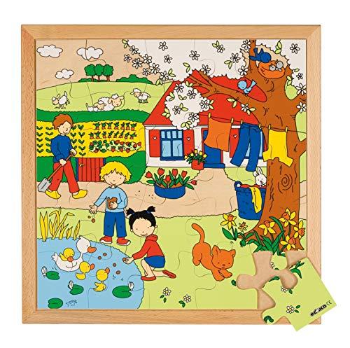 Educo | Jahreszeiten Puzzle 2 - Frühling | Lehrmaterialien Erdkunde | Puzzle - Spielen und lösen - Holz Puzzles | Ab 60 Monate | Bis 144 Monate, farbskala