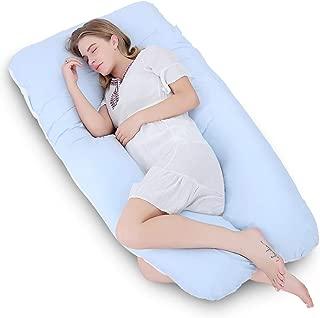 Fashionwu Multifunctional Pregnancy Pillow Comfortable U-Shape Cushion Side Sleeping Detachable Washable