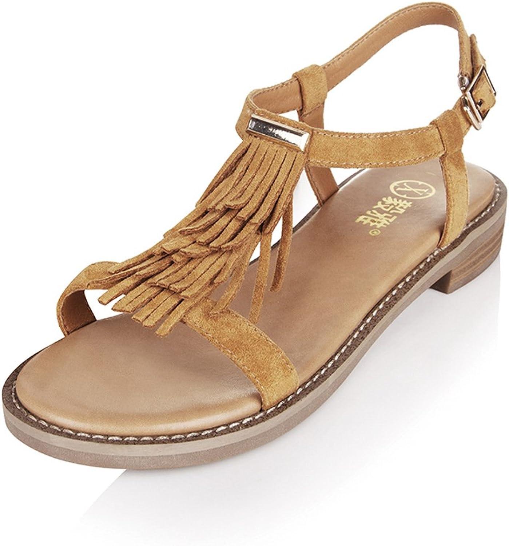 WANGXIAOLIN Fringe Folk Style Bohemian Sandals ( Size   35 )