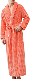Koolsants Men s Robe Mens Fleece Robe Ultra Soft Full Length Long Bathrobe 53fcc9877