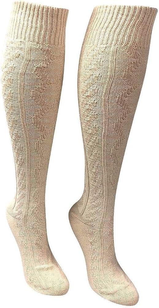 Love Sock Company - Women's Knee High Boot Cozy Casual Dress Socks Beige - Organic cotton - Ivory