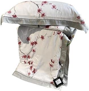 NG Décor à la Maison Été Cool Housse de Couette et Taie d'oreiller 1.5 Tog Motif de Fleurs Roses Lavable en Machine Ensemb...