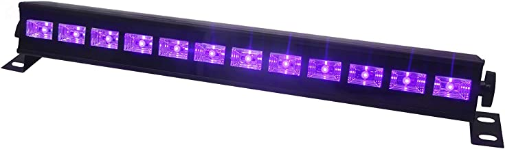 UV LED Bar, Exulight 12LEDx3W with Black Light Bulbs in Metal Housing for Glow Party, Halloween, Christmas and Special Effects