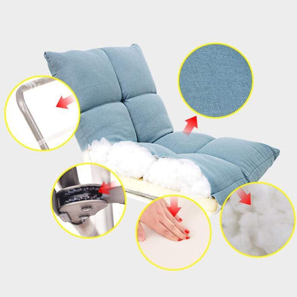 Dall Inclinable Pliant Salon Canapé Lit Réglable À 6 Positions Siège De Chaise Longue Support Arrière Chambre Balcon Salon (Color : Red) Blue