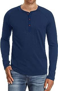 Men's Fashion Casual Slim Fit Long/Short Sleeve Henley T-Shirts Cotton Shirts