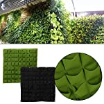 72 Pocket Vertical Wall Garden Planter,Wall Hanging Planting Bags for Garden Indoor Outdoor (16 Pockets) 10 ❤The felt material, meet environmental standards, non-toxic biodegradable, anti ultraviolet, anti-corrosion, sunscreen, heat. ❤Hanging on the walls, save space, planting strawberries, vegetables, foliage plants. ❤Reusable, portable, economical and practical.
