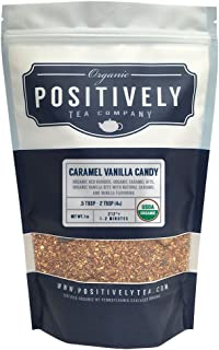 Positively Tea Company, Organic Caramel Vanilla Candy, Rooibos Tea, Loose Leaf, 16 oz. Bag