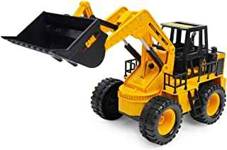 BAOBLADE 1/24 Battery Powered Electric RC Bulldozer Construction Tractor Educational Toys for Kids Boys
