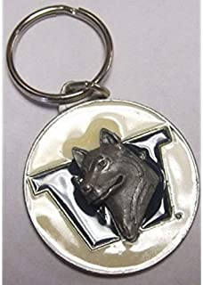 Bergamot Washington Huskies Oval Carved Metal Keychain
