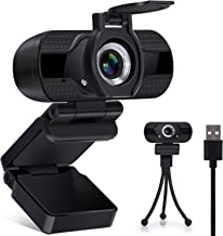 Full HD 1080P Privacy Cover Webcam, Plug & Play USB Web Camera with Built-in Stereo Microphone for Laptop MacBook, Streaming Camera for PC Computer Desktop of Windows Android iOS Linux