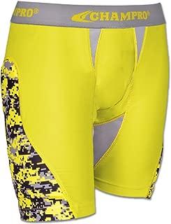 CHAMPRO Women's Line Drive Softball Sliding Shorts, Padded Sides, Black/Purple