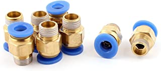 uxcell 6mm Tube to 1/8BSP Thread Push in Quick Connect Coupler Fittings 8 Pcs