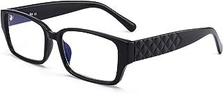 JM Rectangle lunettes de lecture bleu clair bloquant les lecteurs d'ordinateur pour femmes hommes lunettes anti-éblouissem...