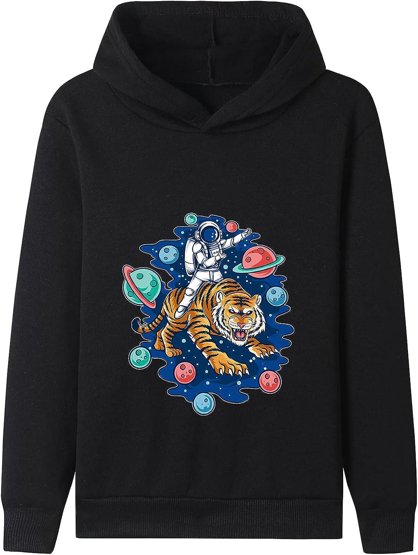 NADHIRAH Kids Black Clothes Sweatshirts Boy'S Lightweight Pullover Hoody Coat Sweatshirt With Hood