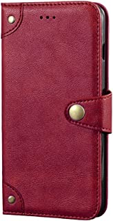 Case Compatible with Tecno Spark 7T,Leather Flip Case with Card Slot,Stand Holder and Buttoned Magnetic Closure,Retro Case...