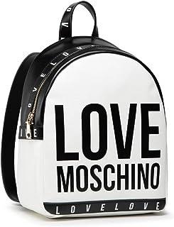 Love Moschino Damen Zainetto Da Donna Ai 021 Damenrucksack, Weiß, Einheitsgröße