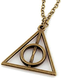 Joyplancraft Harry Potter Necklace,retro Bronze Deathly Hallows Pendant Necklace,so Cute and Lovely Necklace,fashion Jewel...
