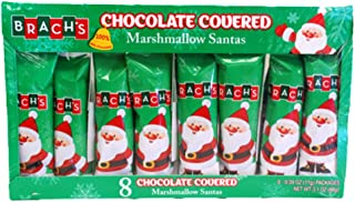 Brach's Milk Chocolate Covered Marshmallow Santa's .39 oz, 8 Santa's Per Box (Pack of 12)