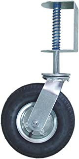 Shepherd Hardware 9798 8-Inch Pneumatic Spring-Loaded Gate Caster, 200-lb Load Capacity and Universal Mount