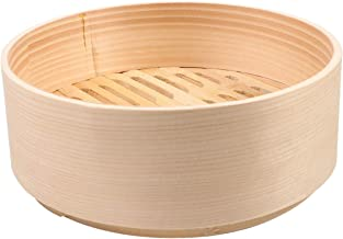 UPKOCH Bamboo Steamer Box Mini Steamer Portable Steamer for Dumplings Vegetables Chicken Kitchen 21cm