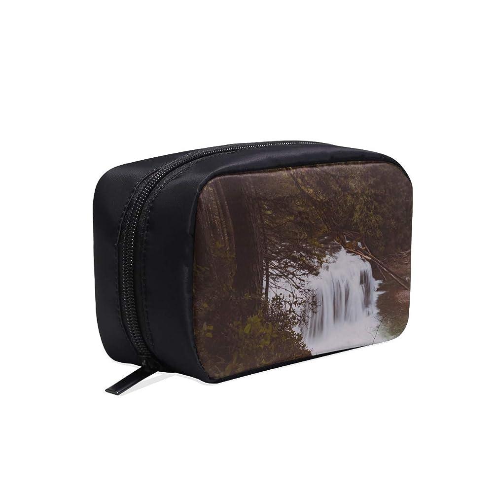 驚いたことに特徴雇用者GGSXD メイクポーチ 美しい風景 滝や森 ボックス コスメ収納 化粧品収納ケース 大容量 収納 化粧品入れ 化粧バッグ 旅行用 メイクブラシバッグ 化粧箱 持ち運び便利 プロ用