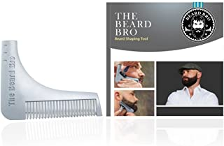 Beard Bro Beard Shaping Tool for Lines and Symmetry, Gray