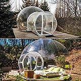 NZYMD Tienda de campaña transparente para casa, hinchable, diseño de cúpula con bomba de aire para mirar las estrellas