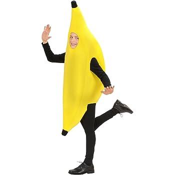 WIDMANN Video Delta Infantil 140cm plátano Niño Traje de 60s 70s ...