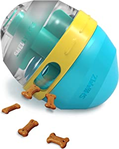 SNiFFiz SmellyEGG Interactive Treat Dispensing Squeaky Puzzle Ball / Enrichment Toy for Dog - Mind Stimulating Food Game / Slow Feeder - from Small Puppies to Large Dogs